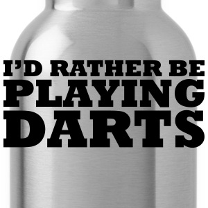 I'd rather be playing darts t-shirt - Water Bottle