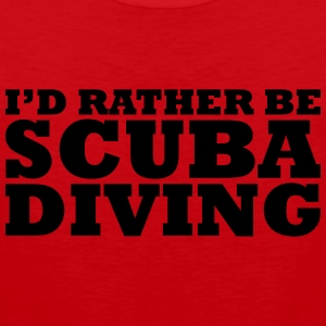 I'd rather be scuba diving t-shirt - Men's Premium Tank Top