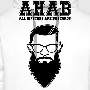 ALL HIPSTERS ARE BASTARDS - Funny Parody  T-Shirts - Men's Premium Hoodie