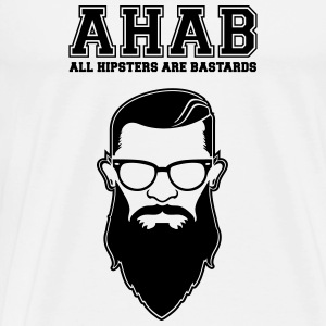 ALL HIPSTERS ARE BASTARDS - Funny Parody  Long Sleeve Shirts - Men's Premium T-Shirt