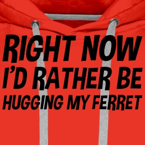 right_now_id_rather_be_hugging_my_ferret t-shirt - Men's Premium Hoodie