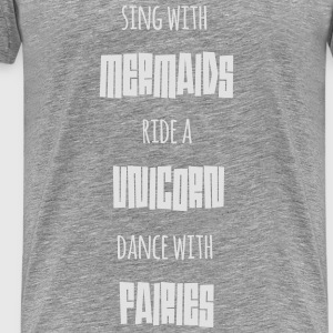 Mermaids Unicorn Fairies - Männer Premium T-Shirt