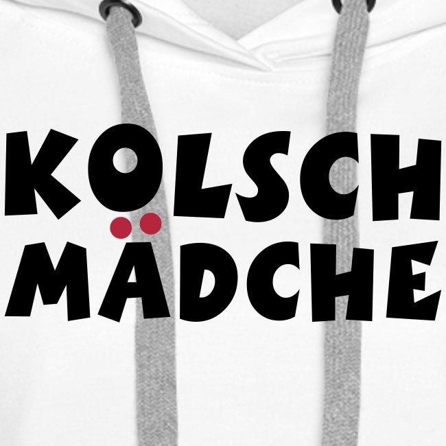 Kölsch Mädche mit Ö und Ä (Schwarz/Rot) Mädchen aus Köln