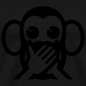 3 Wise Monkeys Iwazaru 言わざる Speak NO Evil Emoji Hoodies & Sweatshirts - Men's Premium T-Shirt