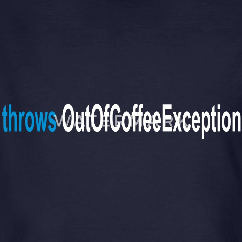 Coffee Exception Java T-Shirts - Männer Bio-T-Shirt