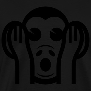 3 Wise Monkeys Kikazaru 聞かざる Hear NO Evil Emoji Hoodies & Sweatshirts - Men's Premium T-Shirt