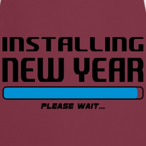 installing new year T-Shirts - Forklæde