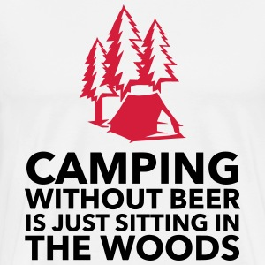Camping is not possible without beer!  Aprons - Men's Premium T-Shirt