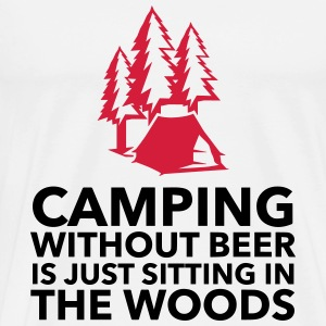 Camping is not possible without beer! Tops - Men's Premium T-Shirt