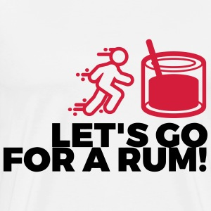 Let s drink a rum! Polo Shirts - Men's Premium T-Shirt