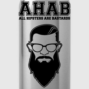 ALL HIPSTERS ARE BASTARDS - Funny Parody  Långärmade T-shirts - Vattenflaska