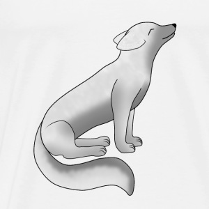 Arctic fox is sitting Sports wear - Men's Premium T-Shirt