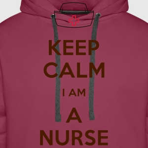 keep calm nurse T-Shirts - Männer Premium Hoodie