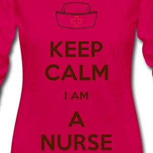 keep calm nurse T-Shirts - Frauen Premium Langarmshirt