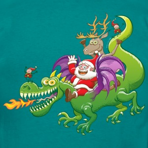 Santa Claus Changed his Reindeer for a Dragon Hoodies & Sweatshirts - Men's T-Shirt