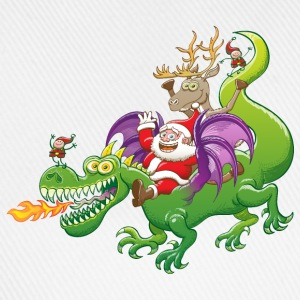 Santa Claus Changed his Reindeer for a Dragon Long sleeve shirts - Baseball Cap