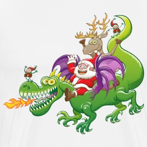 Santa Claus Changed his Reindeer for a Dragon Long sleeve shirts - Men's Premium T-Shirt