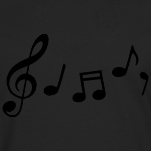 music notes T-Shirts - Men's Premium Longsleeve Shirt