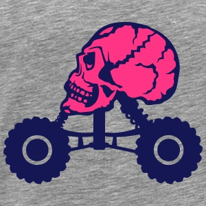 Monster truck death profile skull Tops - Men's Premium T-Shirt