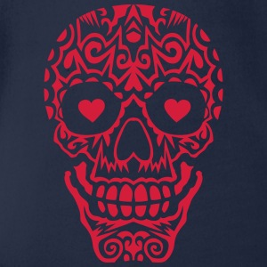 Mexican skull tattoo 10122 Shirts - Organic Short-sleeved Baby Bodysuit