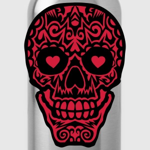 Mexican skull tattoo 1012 Shirts - Water Bottle