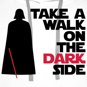 Take a walk on the dark side - Sweat-shirt à capuche Premium pour hommes