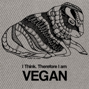 I think therefore I am VEGAN - Snapback cap