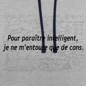 humour - Sweat-shirt contraste