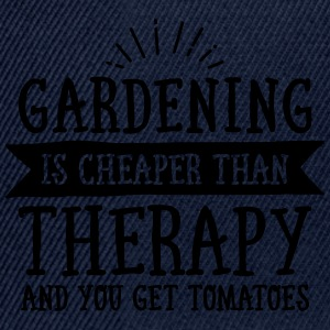 Gardening Is Cheaper Than Therapy... T-Shirts - Snapback Cap