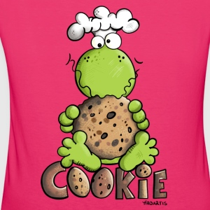 Frog with Cookie Baby Long Sleeve Shirts - Women's Organic T-shirt