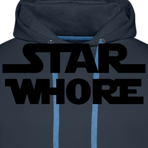 STAR WARS - STAR WHORE - Sweat-shirt à capuche Premium pour hommes