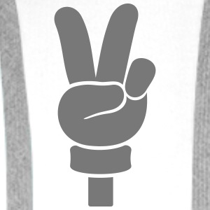 Peace Handzeichen / peace  hand sign (1c) Shirts - Men's Premium Hoodie