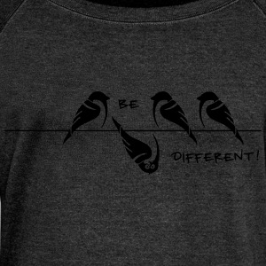 sparrow 'be different' T-Shirts - Women's Boat Neck Long Sleeve Top