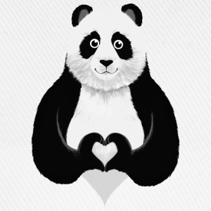Cute Panda Heart Hand Sign  - Baseballkappe