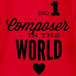 Best composer in the world Shirts - Organic Short-sleeved Baby Bodysuit