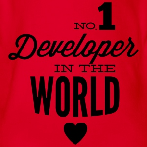 Best developers in the world Shirts - Organic Short-sleeved Baby Bodysuit