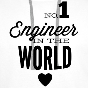 Best engineer of the world Shirts - Men's Premium Hoodie