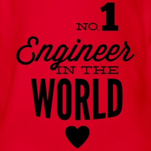 Best engineer of the world Shirts - Organic Short-sleeved Baby Bodysuit