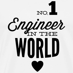 Best engineer of the world Tank Tops - Men's Premium T-Shirt