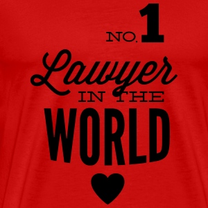 Best lawyer in the world Long Sleeve Shirts - Men's Premium T-Shirt