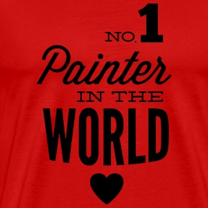 Best painter in the world Long Sleeve Shirts - Men's Premium T-Shirt