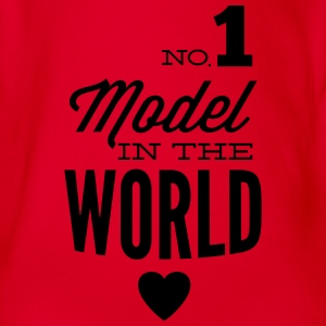Best model of the world Shirts - Organic Short-sleeved Baby Bodysuit