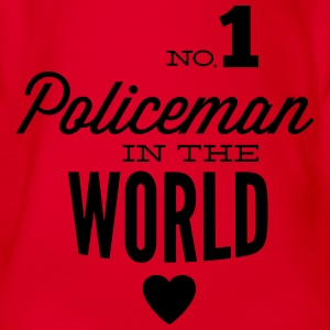 Best COP in the world Shirts - Organic Short-sleeved Baby Bodysuit