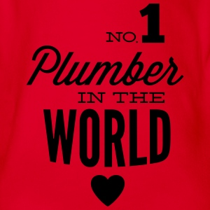 Best plumbing of world Shirts - Organic Short-sleeved Baby Bodysuit