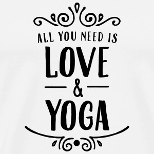 ALl You Need Is Love & Yoga Bags & Backpacks - Men's Premium T-Shirt