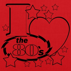 I Love the 80`s - Stoffbeutel