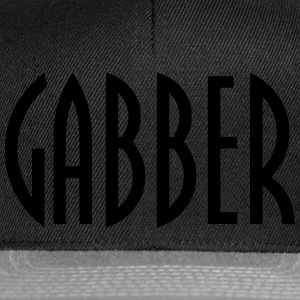 Tshirt gabber oldschool, typographie thunderdome - Casquette snapback