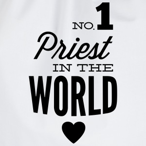Best priest of the world T-Shirts - Drawstring Bag