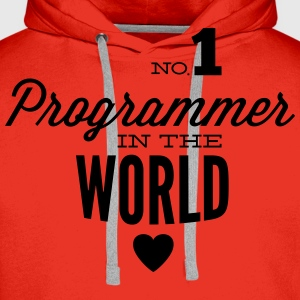 Best programmers in the world T-Shirts - Men's Premium Hoodie