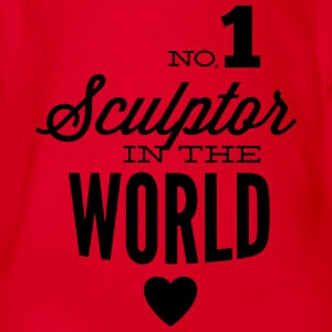 Best sculptors of the world Shirts - Organic Short-sleeved Baby Bodysuit